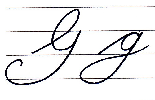 Cursive Capital G That looks like a g! i was