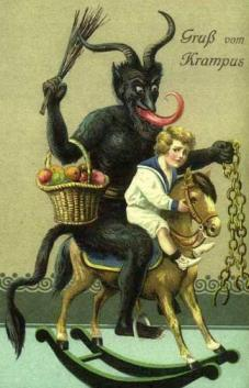 This is just about the least distressing image on the Wikipedia page regarding Herr Krampus.