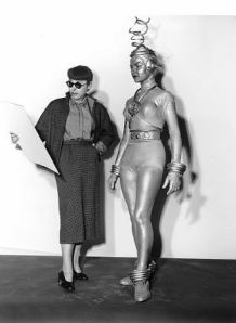 How the hell did they get Edith Head to stand still for this picture?
