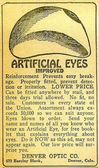 Because it's easier to read a pulp magazine if you've got eyes.