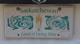 Saskatchewan's licence plate